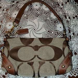 Brown Coach Mini Purse